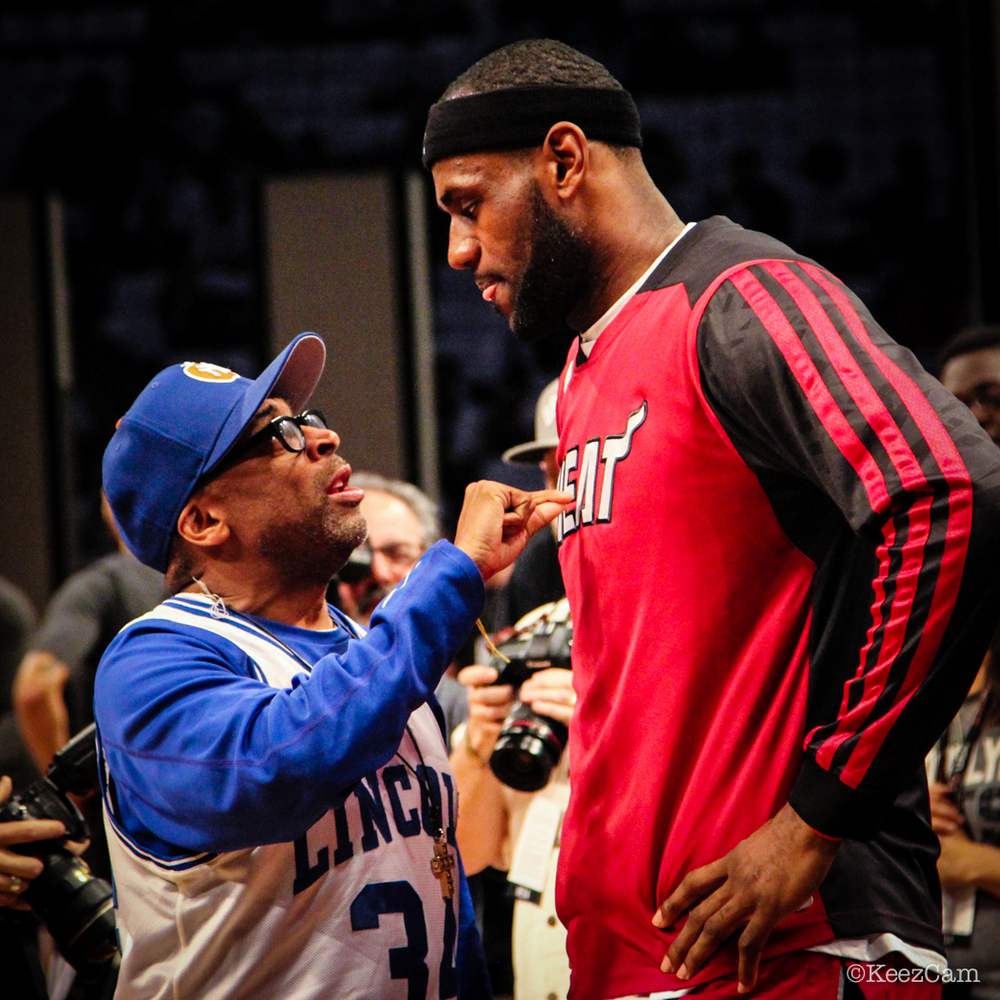 Spike Lee & LeBron James Game 4 at Barclays Center