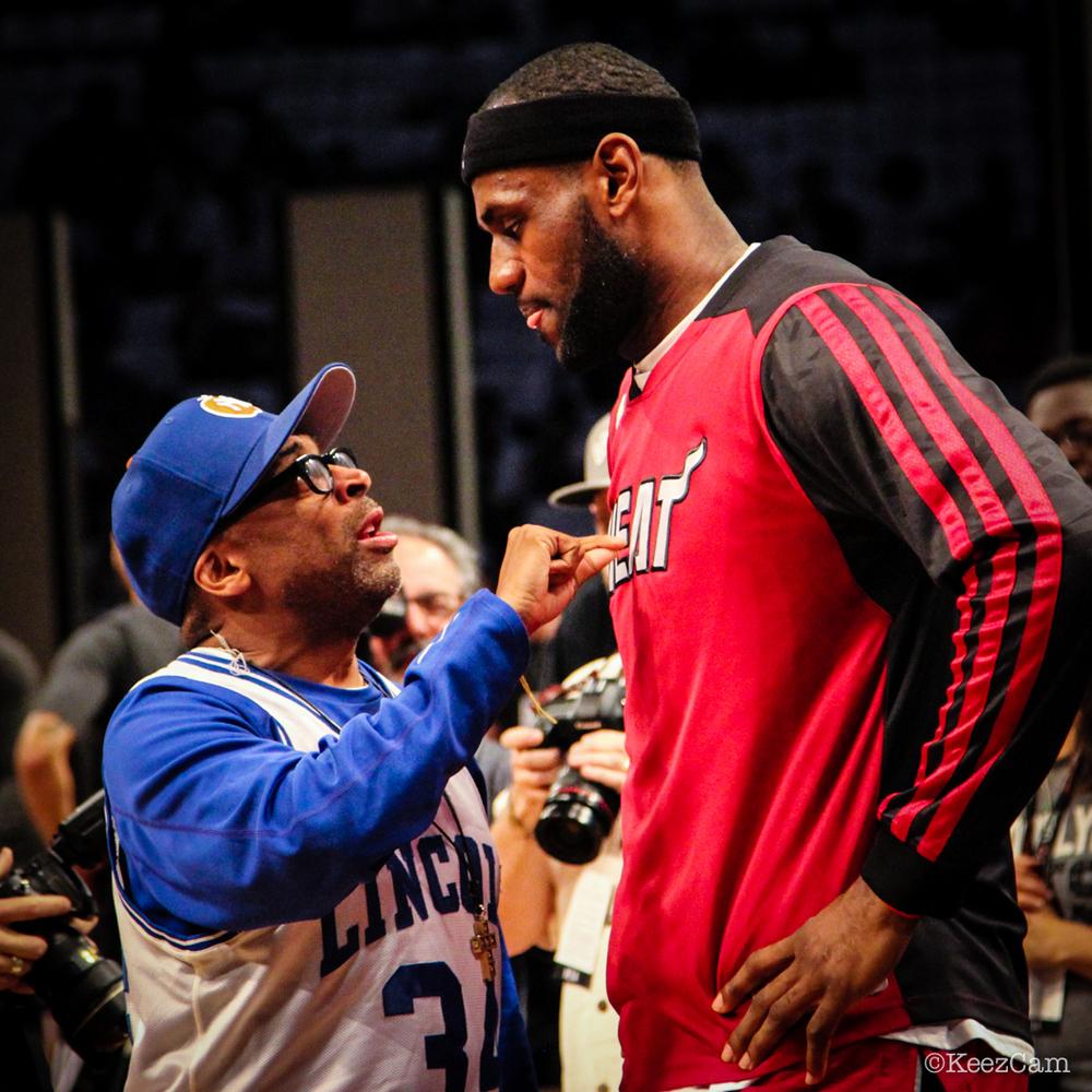 Spike Lee & LeBron James Game 4 at Barclays Center