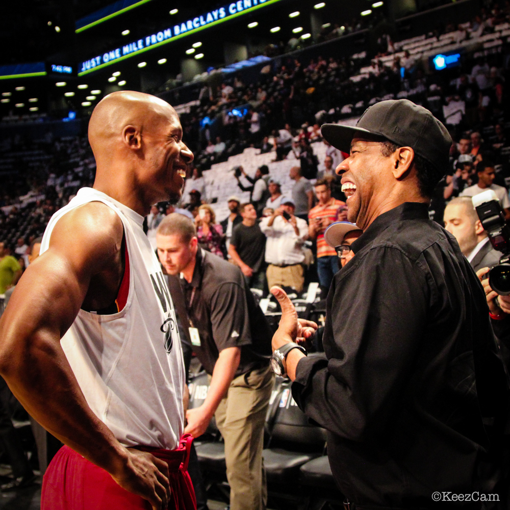 Ray Allen & Denzel Washington re-unite in Brooklyn