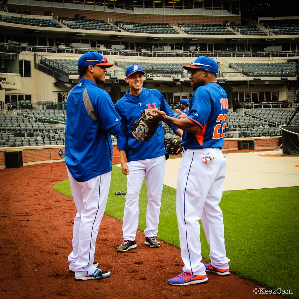 Juan Lagares, Wilmer Flores & Eric Young Jr.