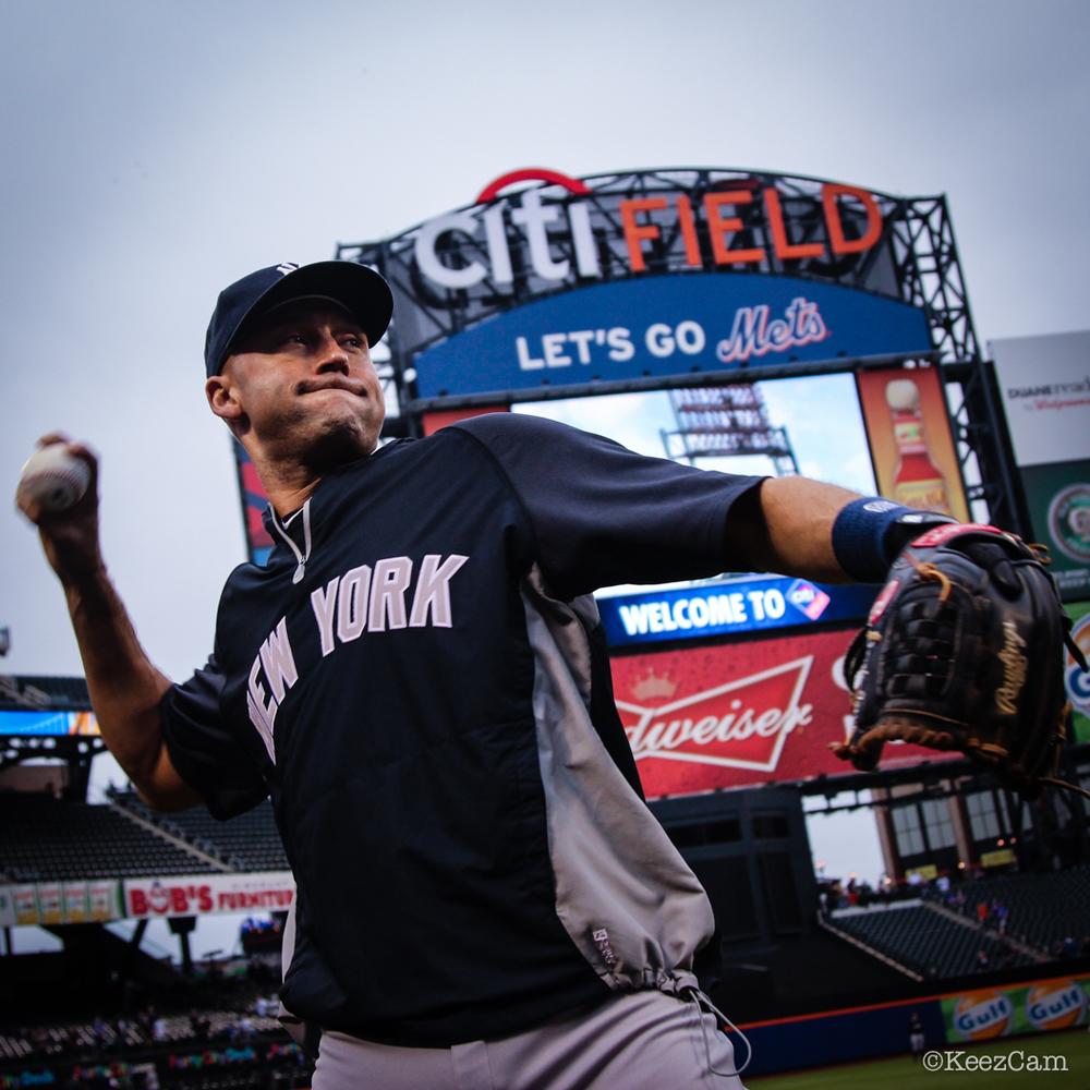 New York Yankees Captain Derek Jeter final regular season game vs New York Mets at Citi Field