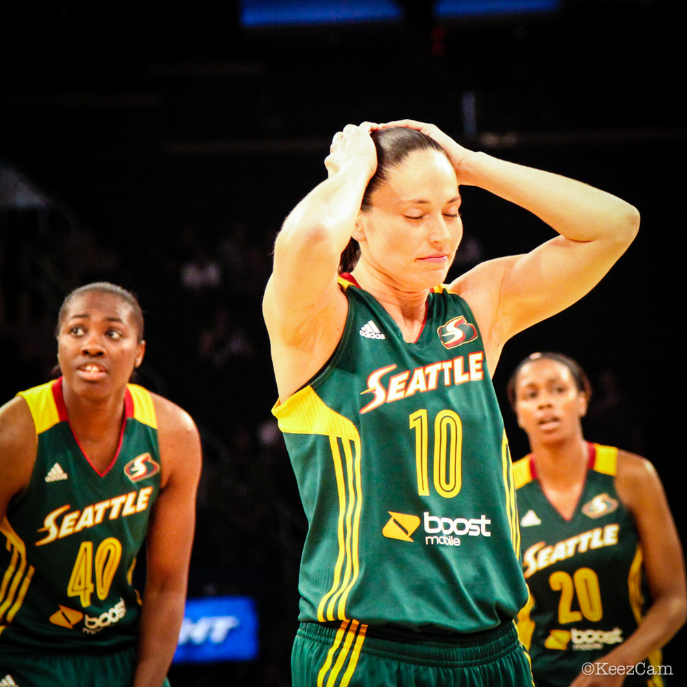 Sue Bird missing the game tying jumper at MSG