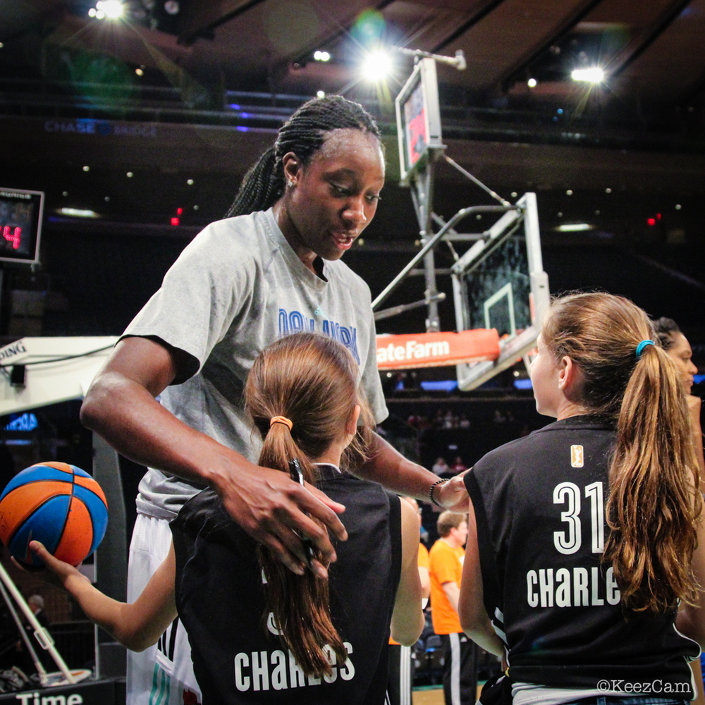Tina Charles and her fans.
