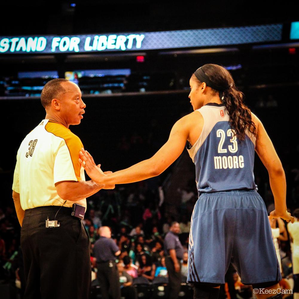 WNBA Referee & Maya Moore