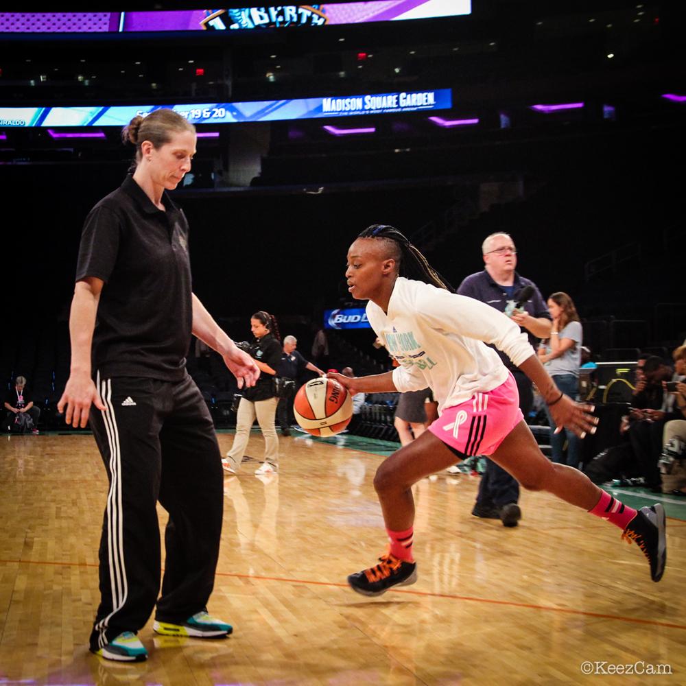 NYL Coach Katie Smith & Charde Houston