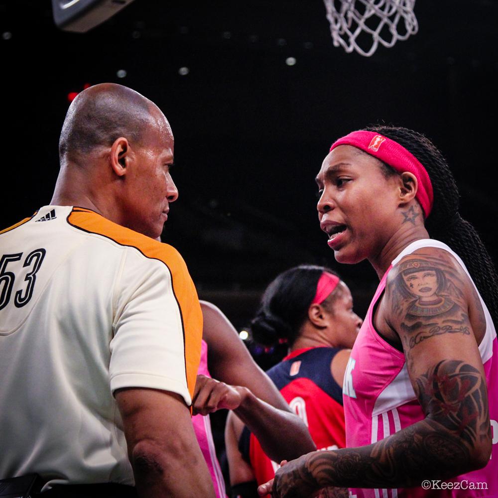 WNBA Official & Cappie Pondexter
