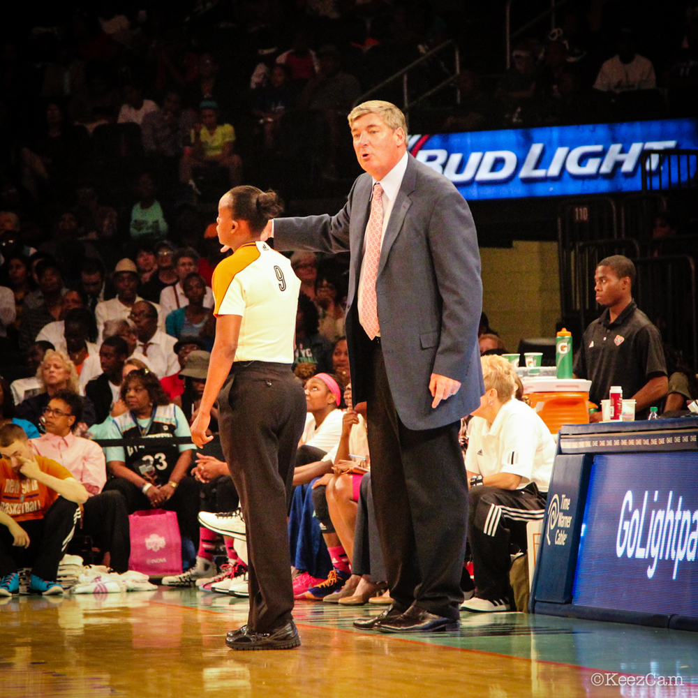 WNBA Official & Bill Laimbeer