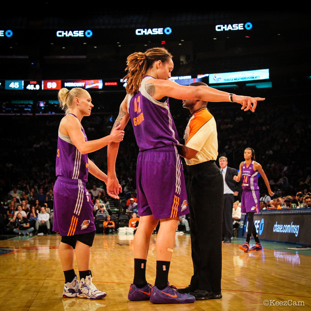 Erin Phillips, Brittney Griner & WNBA Official