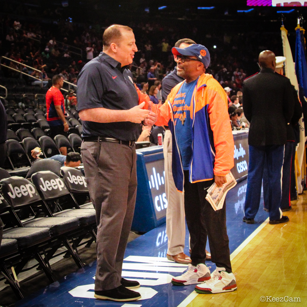 Tom Thibodeau & Spike Lee