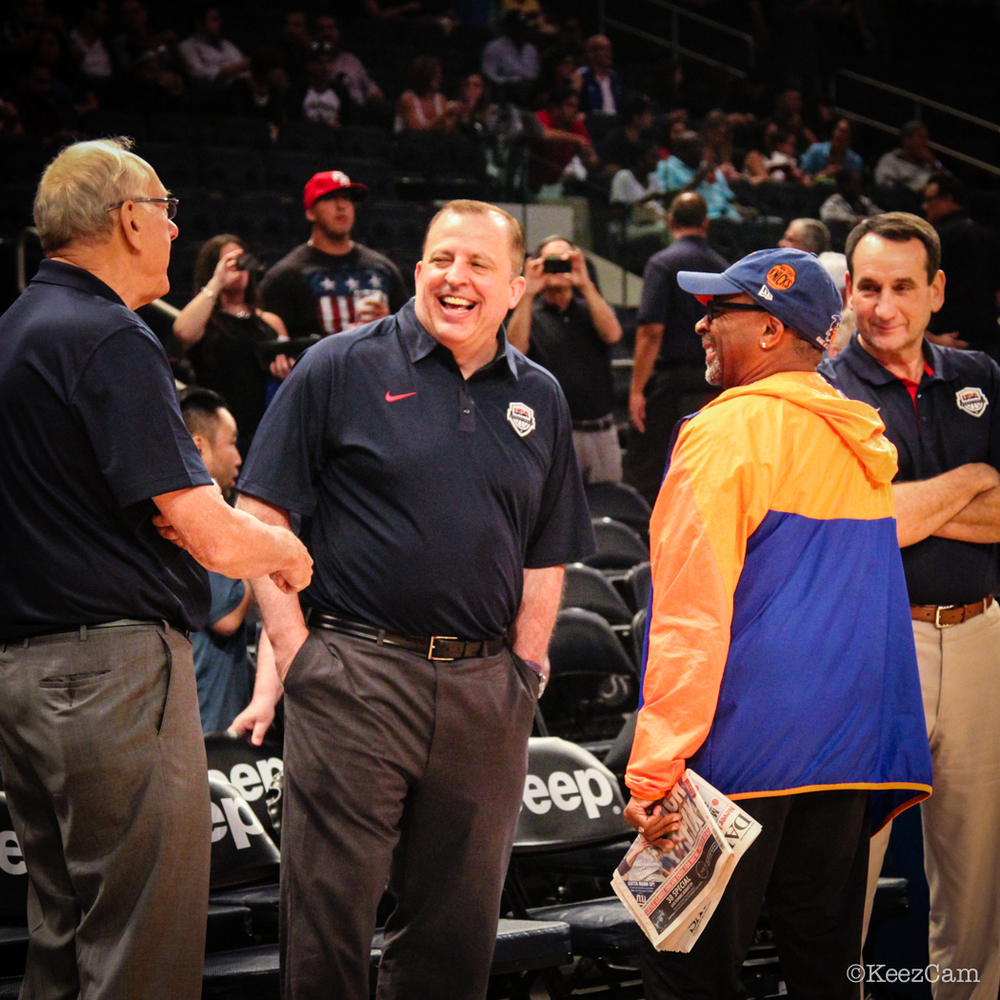 Jim Boeheim, Tom Thibodeau, Spike Lee & Mike Krzyzewski