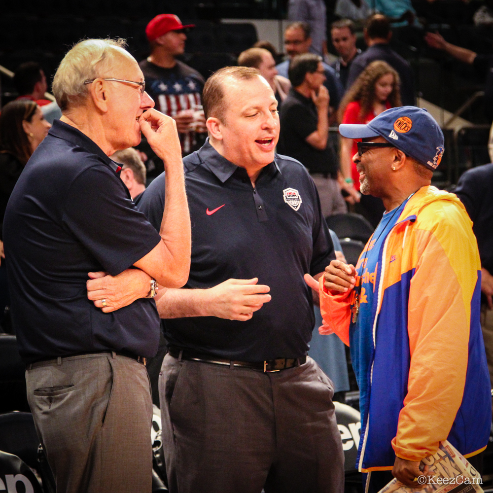 Jim Boeheim, Tom Thibodeau & Spike Lee