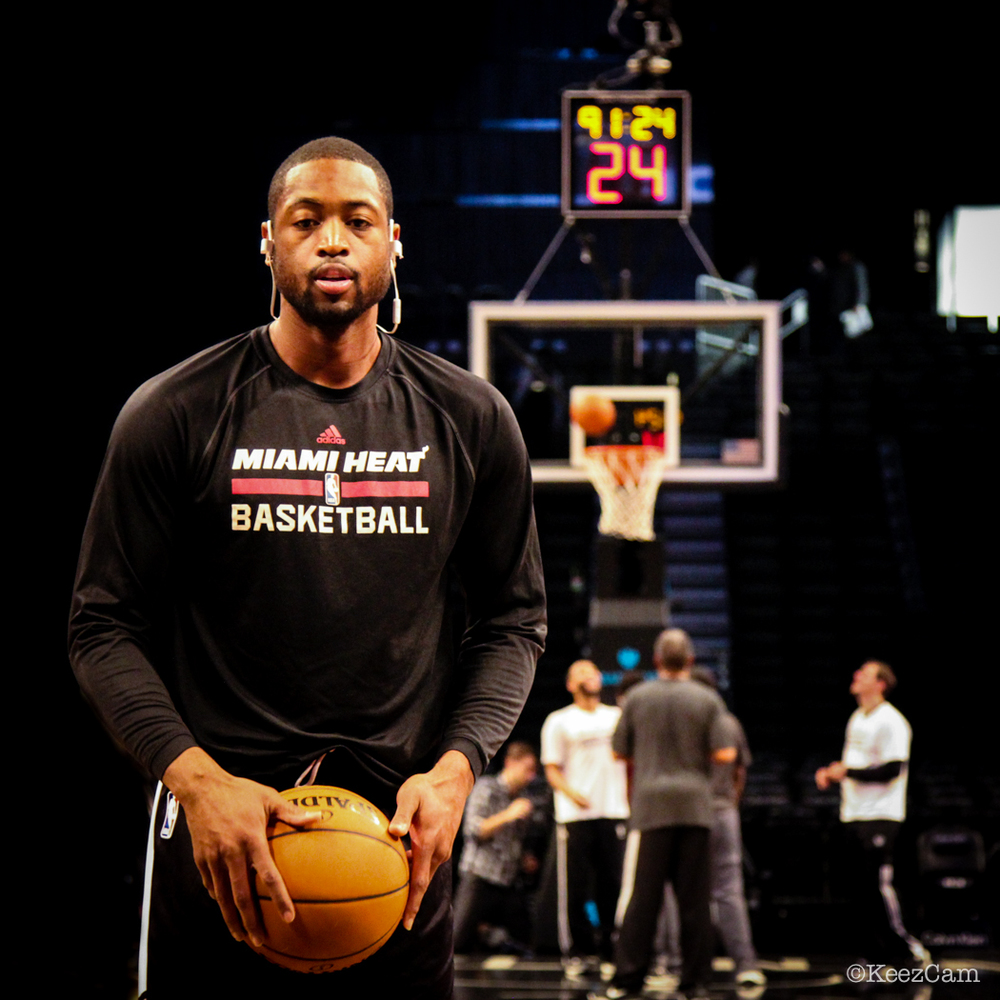 Miami Heat G Dwyane Wade getting closer to full strength in Brooklyn.