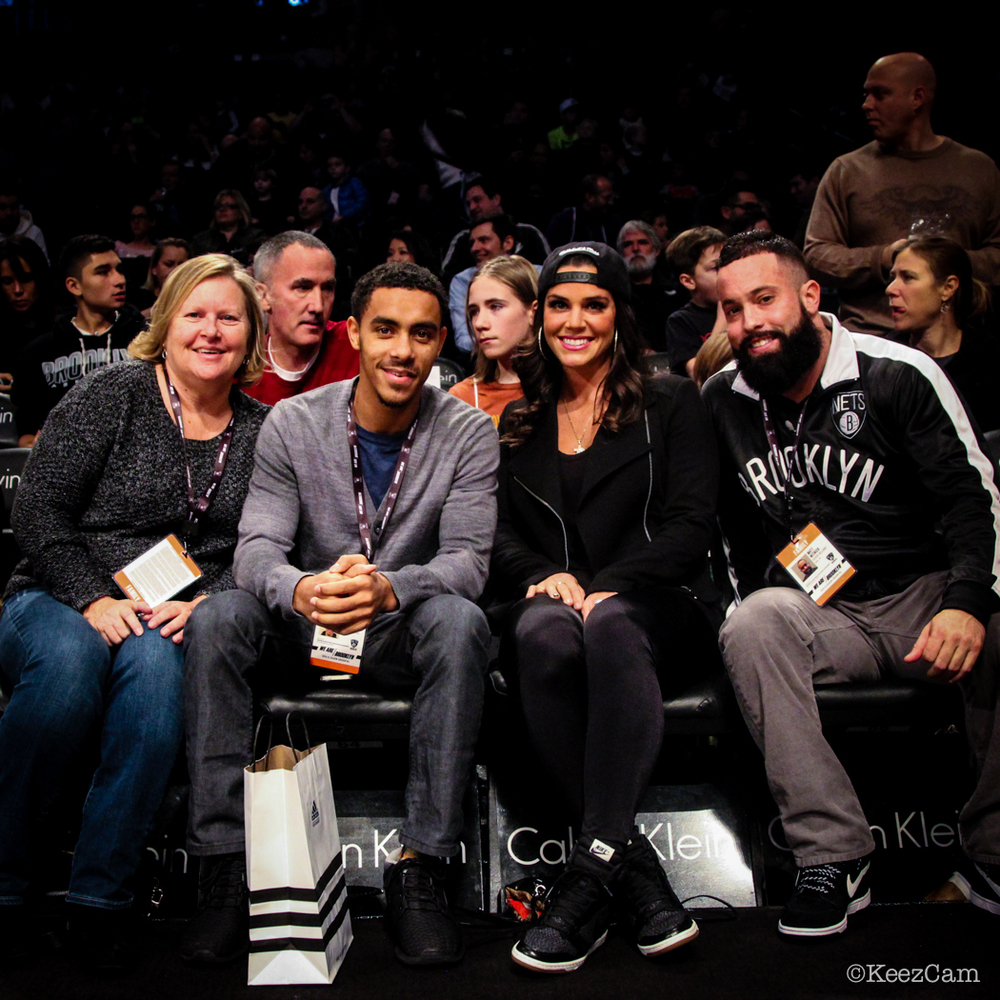 Courtside with the Williams family in Brooklyn