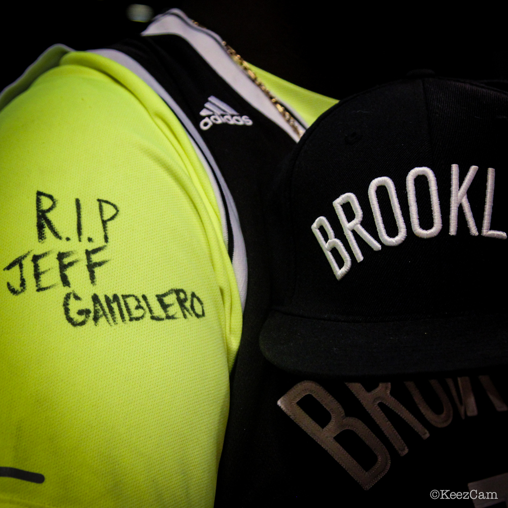 "In memory of Brooklyn Nets ""Super Fan"" Jeffrey Gamblero"