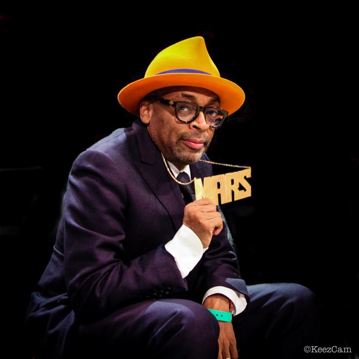 "Spike Lee aka ""Mars Blackmon"" Courtside for NBA All-Star Saturday in Brooklyn"