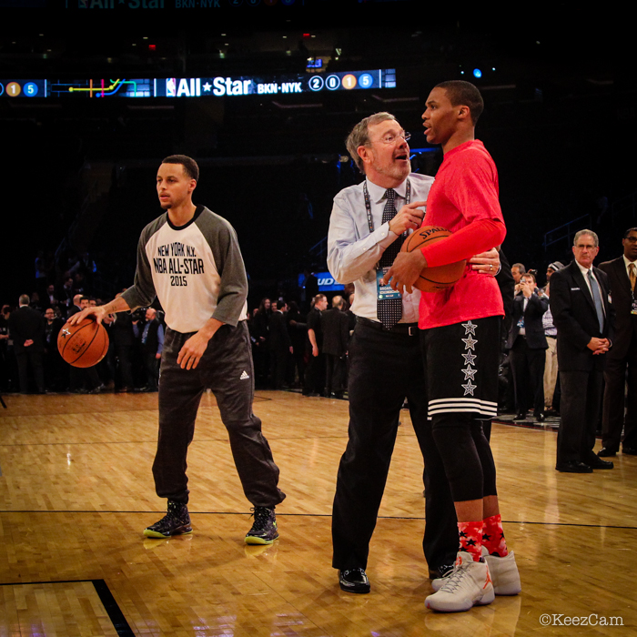 Stephen Curry, P.J. Carlesimo & Russell Westbrook