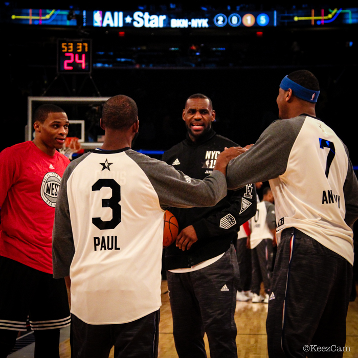 Russell Westbrook, Chris Paul, Carmelo Anthony & LeBron James