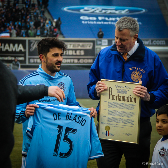 David Villa & Bill de Blasio