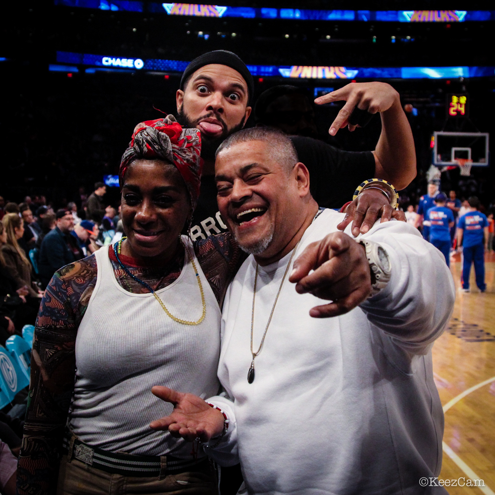 Dwill photo bomb at Madison Square Garden