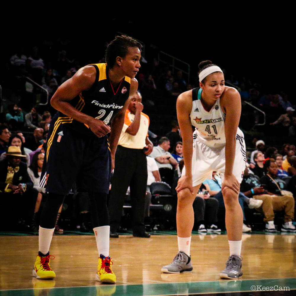 Tamika Catchings & Kiah Stokes