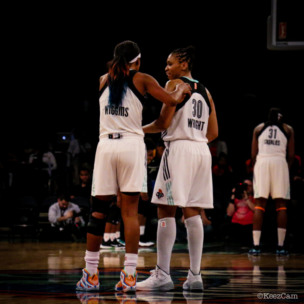 Candice Wiggins & Tanisha Wright