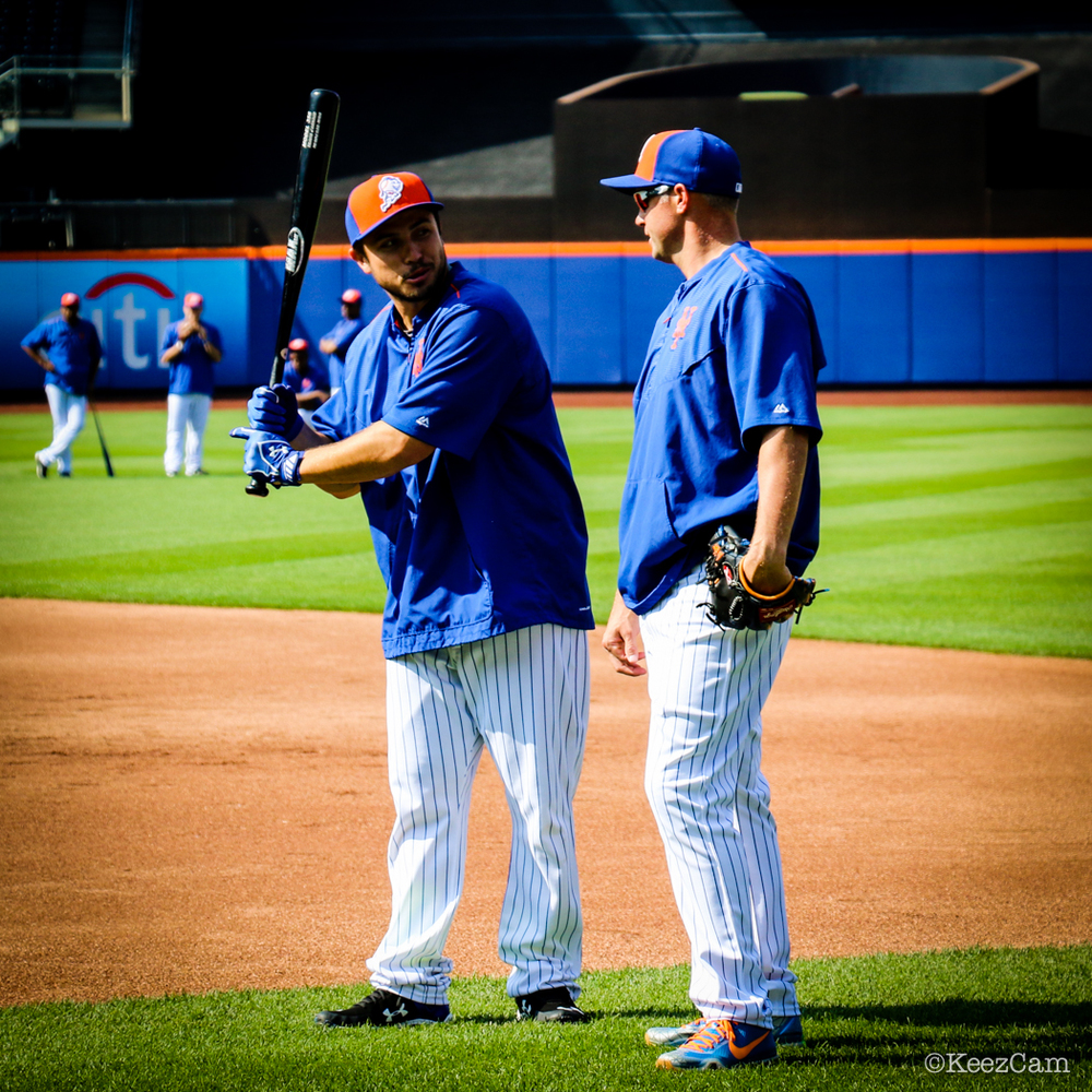 Travis d'Arnaud & Michael Cuddyer