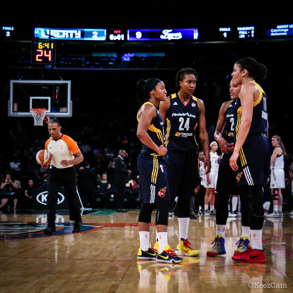 Briann January, Tamika Catchings & Natalie Achonwa