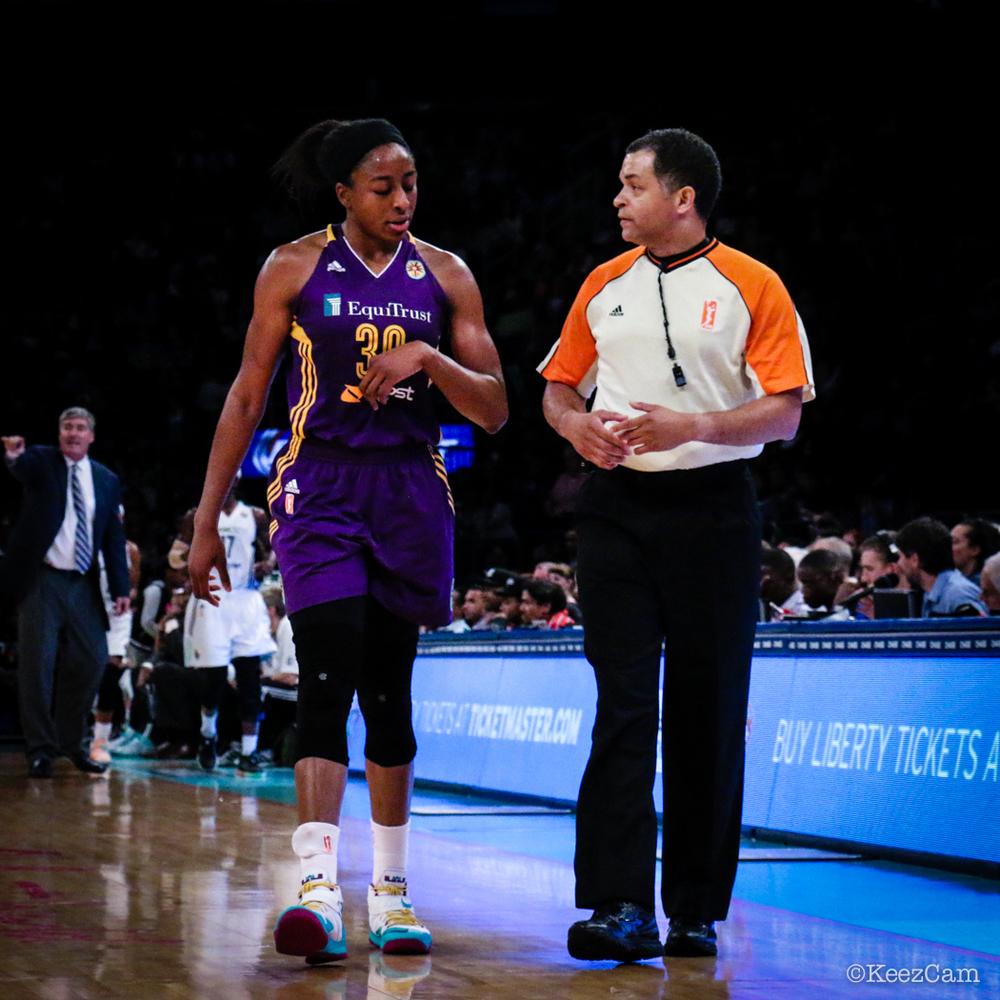 Nneka Ogwumike & WNBA Official