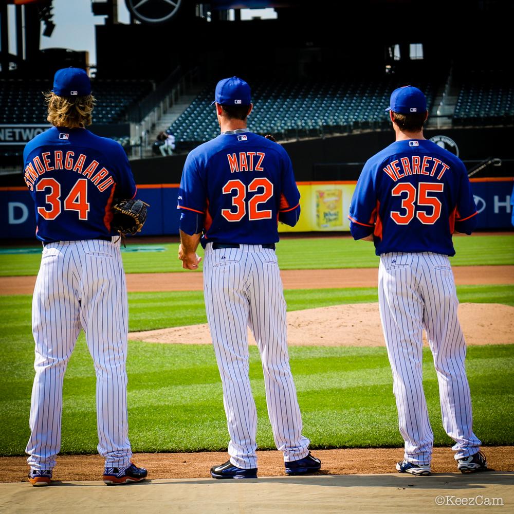 Noah Syndergaard, Steven Matz & Logan Verrett