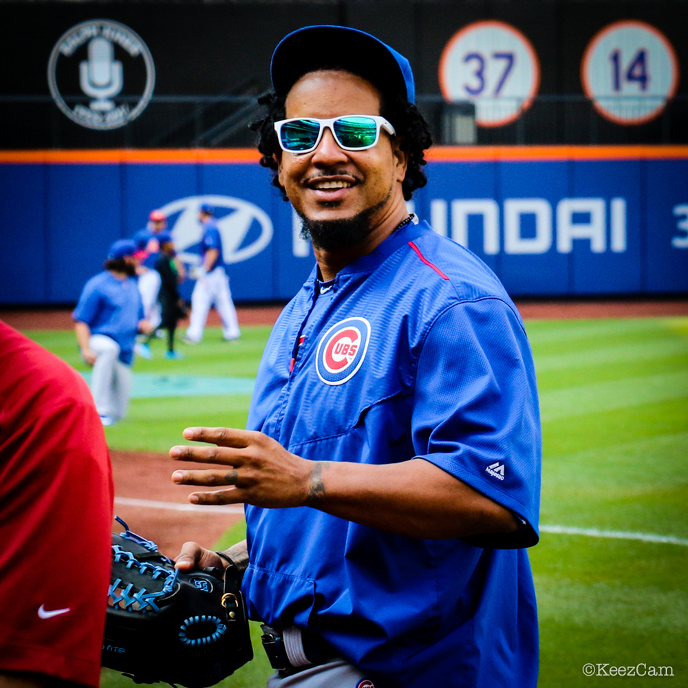 Chicago Cubs coach Manny Ramirez