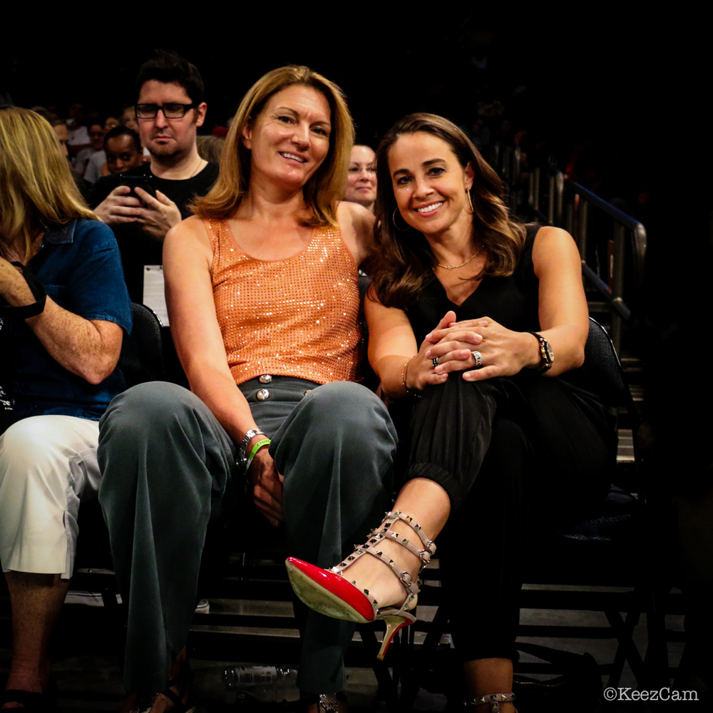 Sue Wicks & Becky Hammon courtside at Madison Square Garden