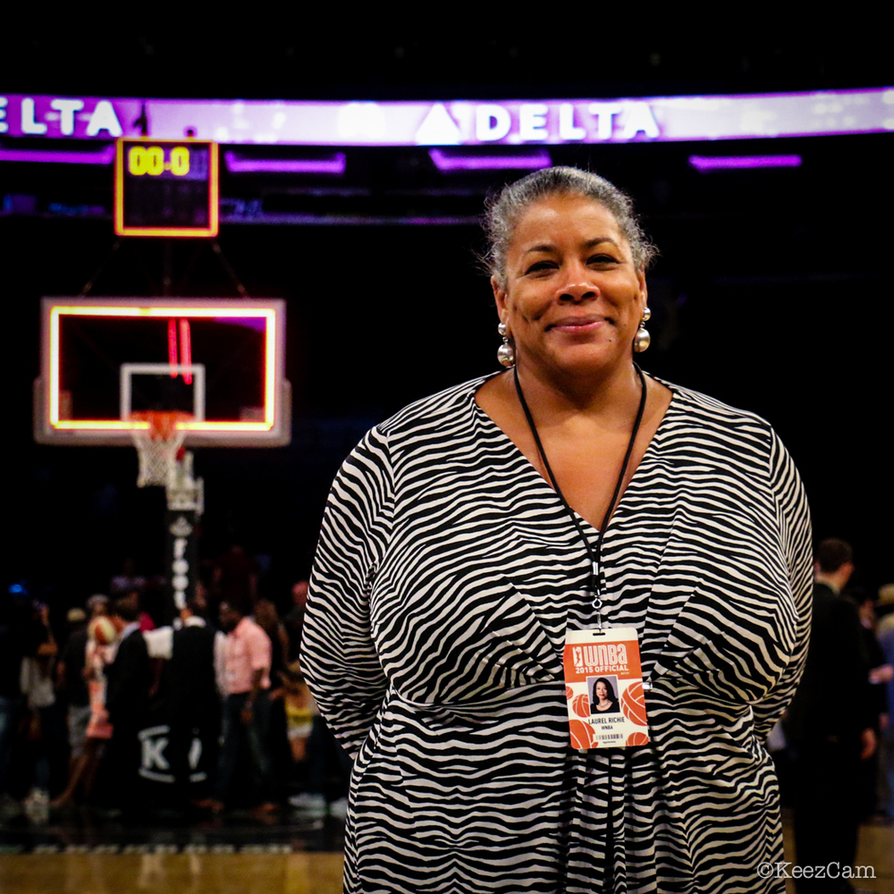 WNBA Basketball Commissioner Laurel Richie at Madison Square Garden