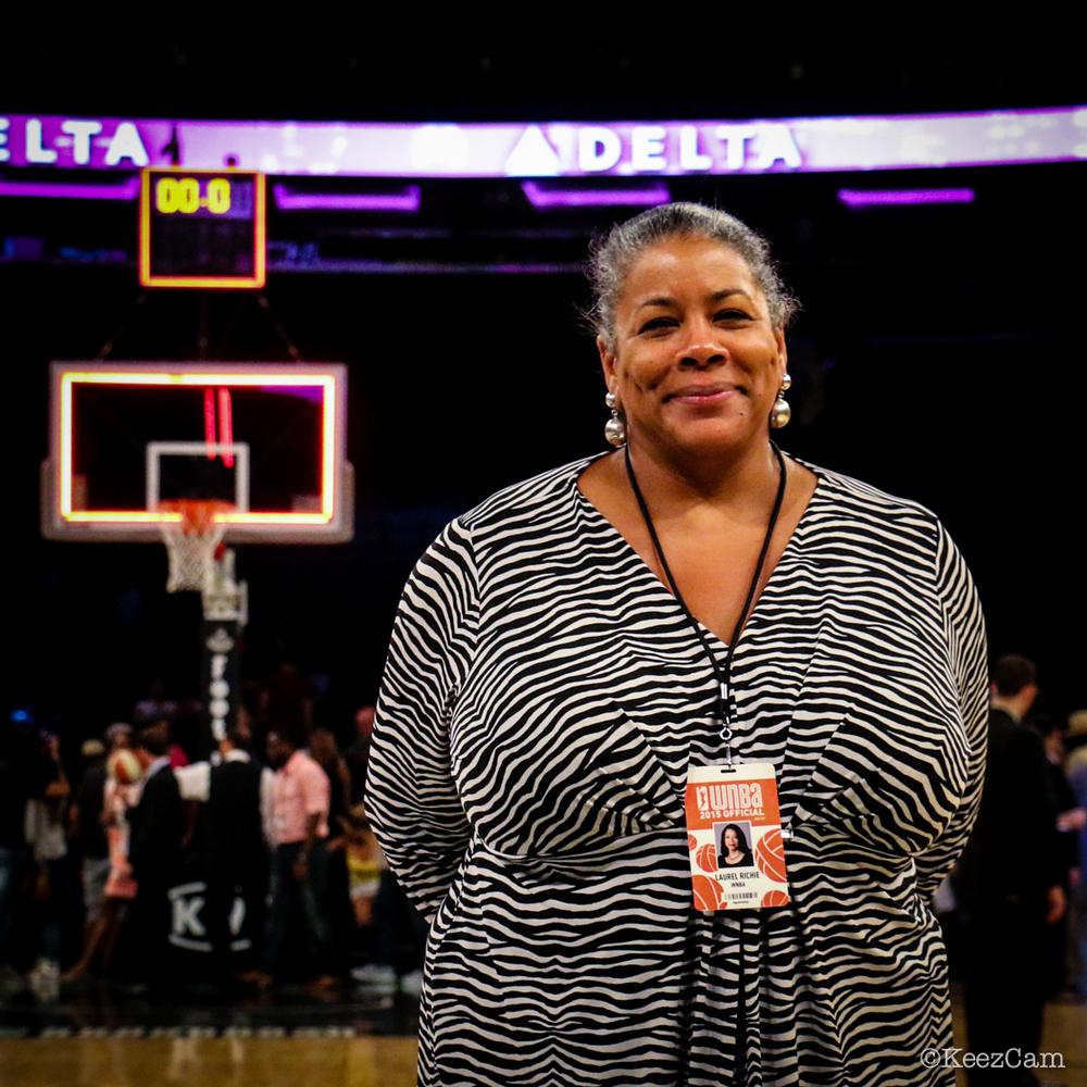 WNBA Basketball Commissioner Laurel Richie at Madison Square Garden