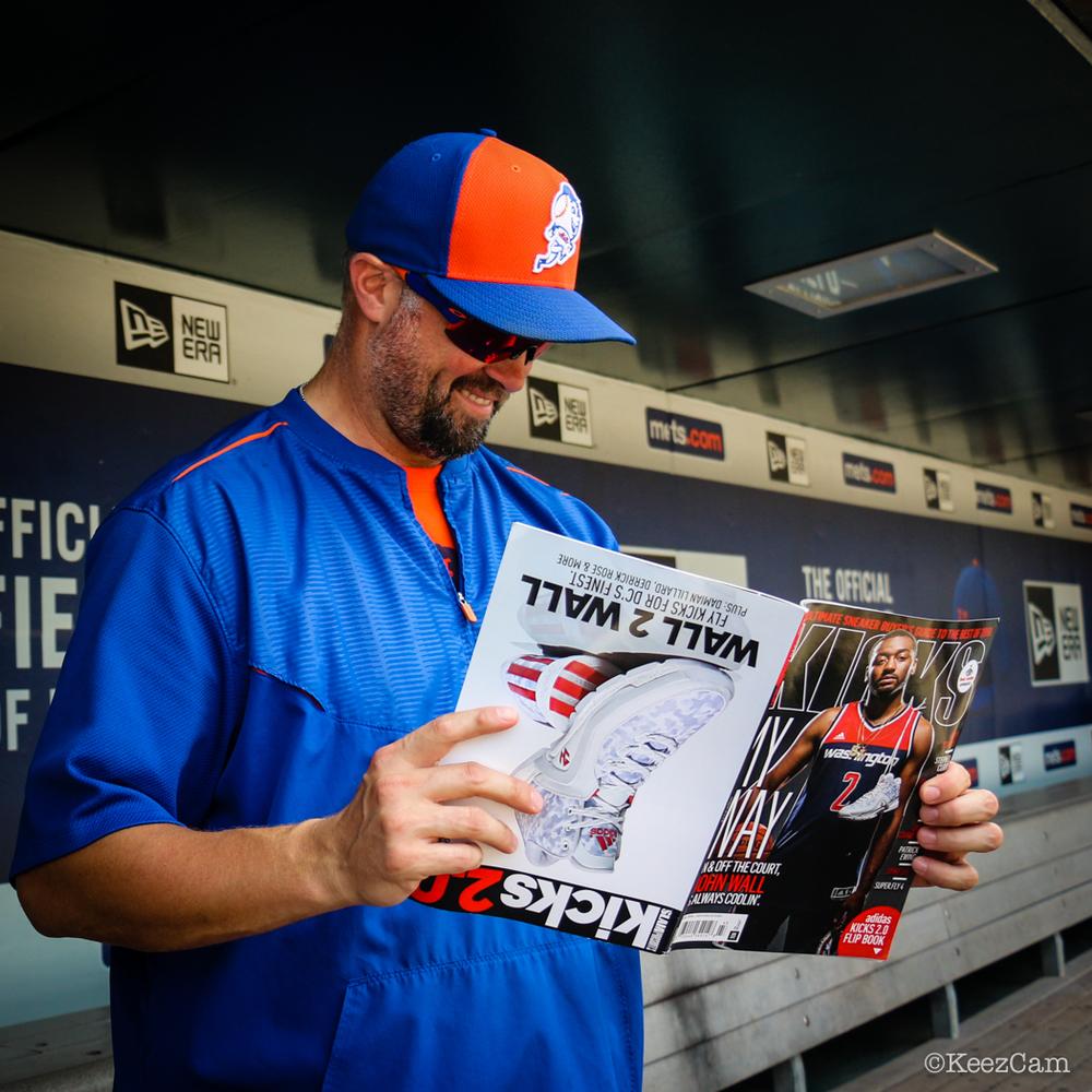 New York Mets OF Michael Cuddyer catching up on KeezCam Kicks via Kicks Magazine