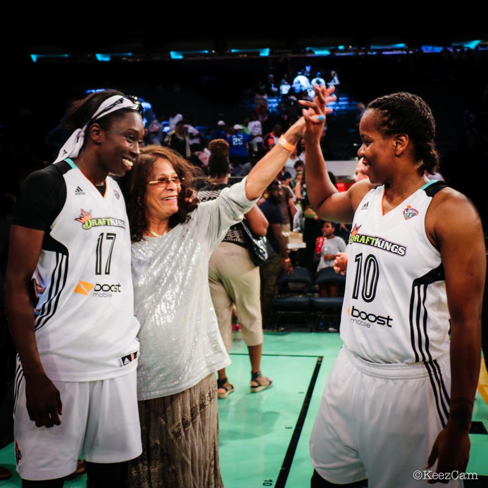 Essence Carson, Vivian Stringer & Epiphanny Prince at Madison Square Garden