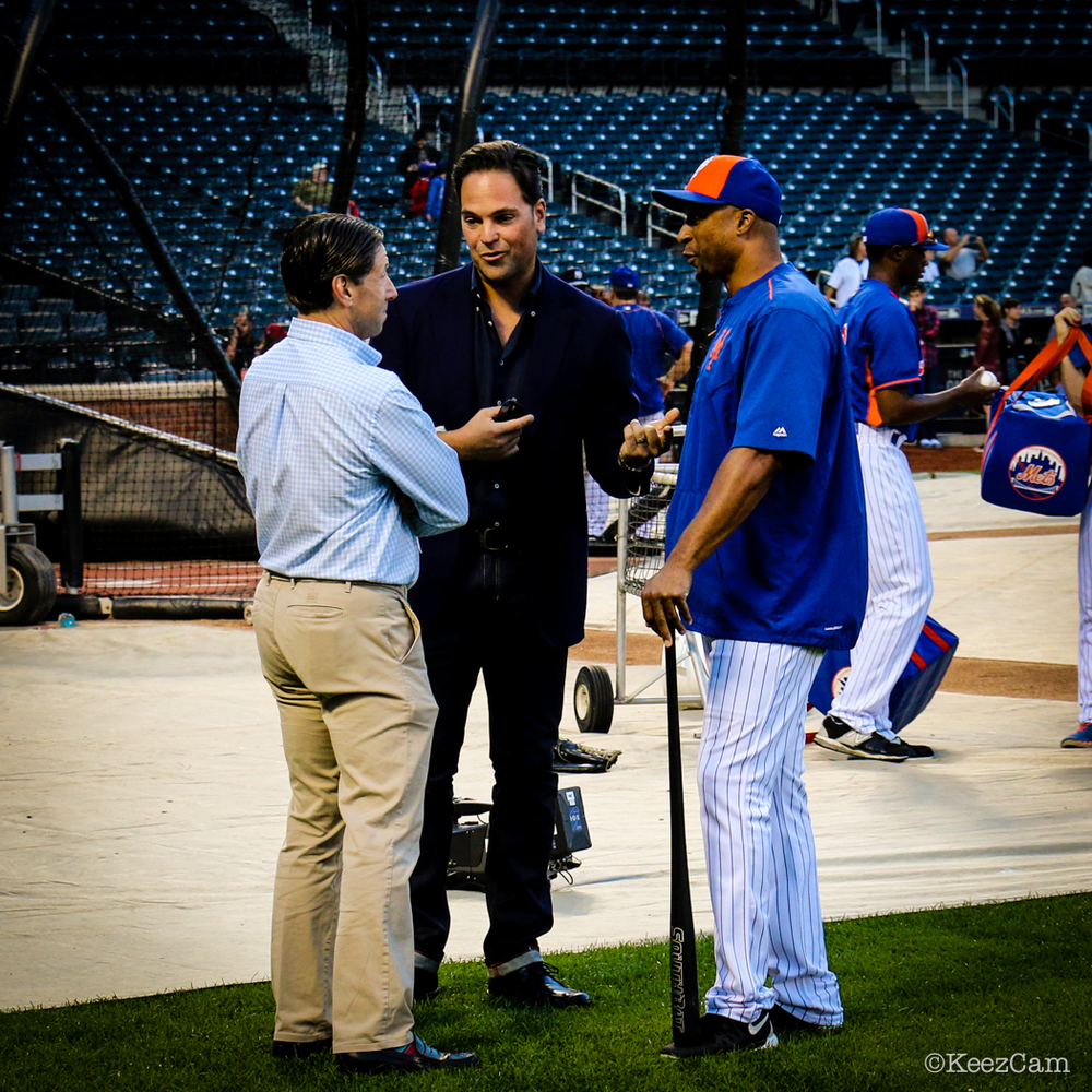 Jeff Wilpon, Mike Piazza & Tom Goodwin