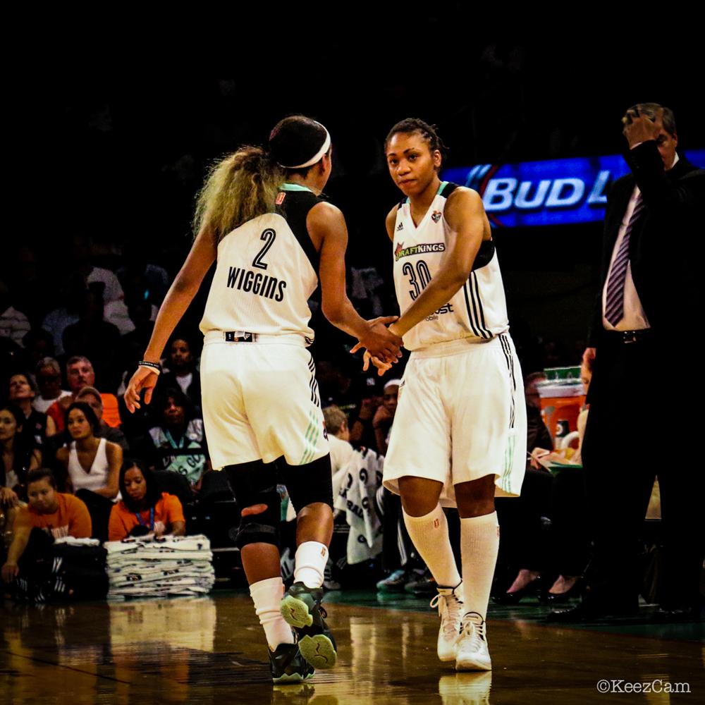 Candice Wiggins & Tanisha Wright