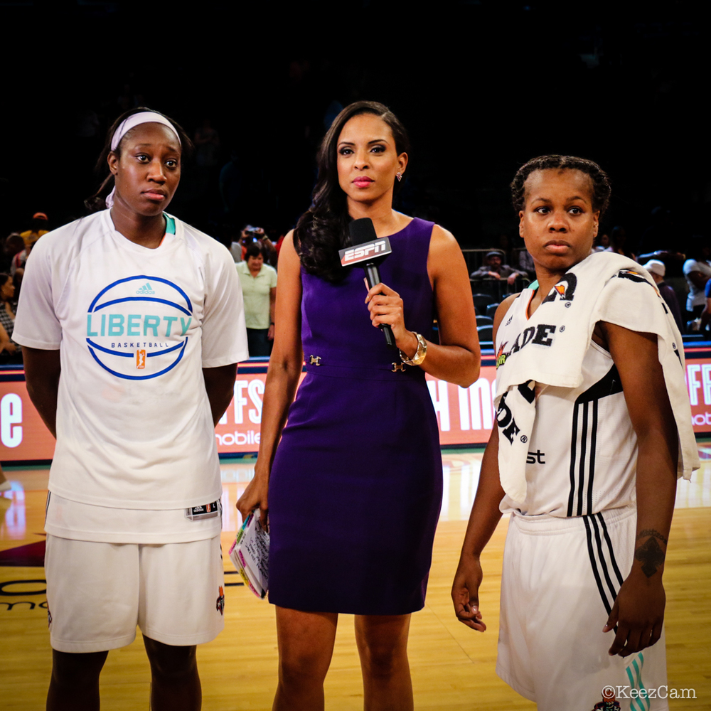 Tina Charles, LaChina Robinson & Epiphanny Prince