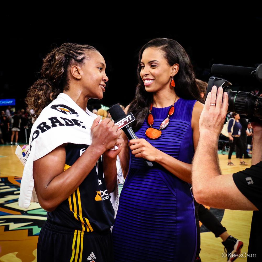 Tamika Catchings & LaChina Robinson