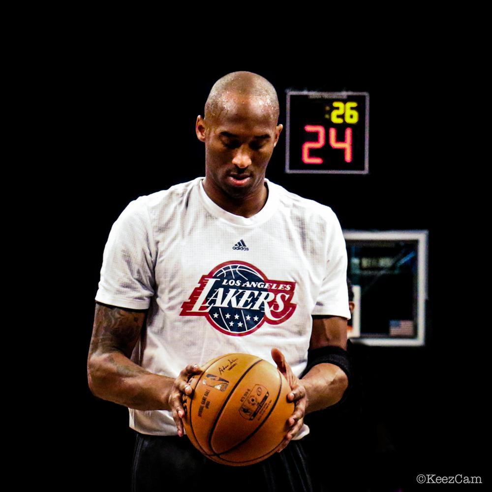 Los Angeles Lakers G Kobe Bryant supreme focus in Brooklyn