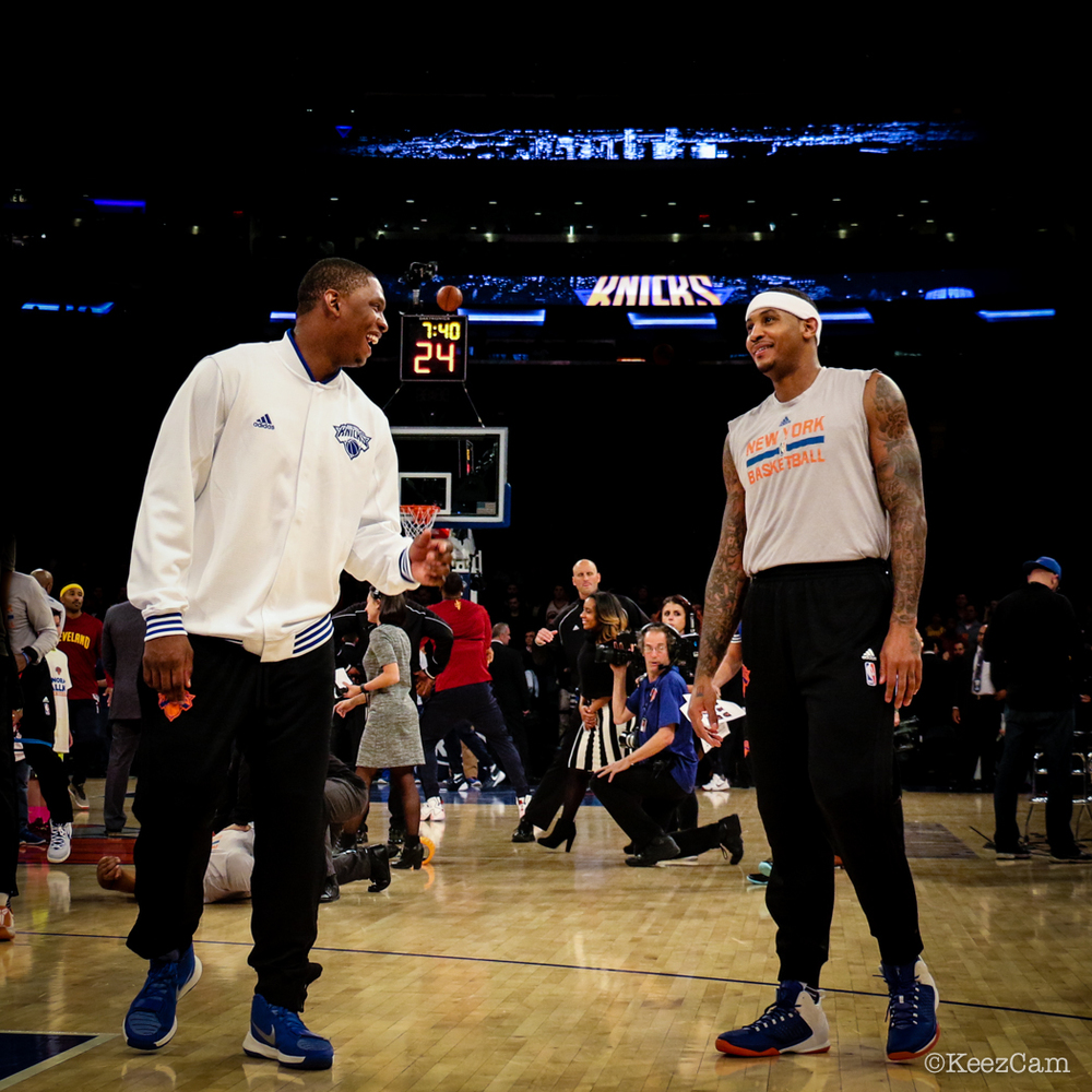 Kevin Seraphin & Carmelo Anthony
