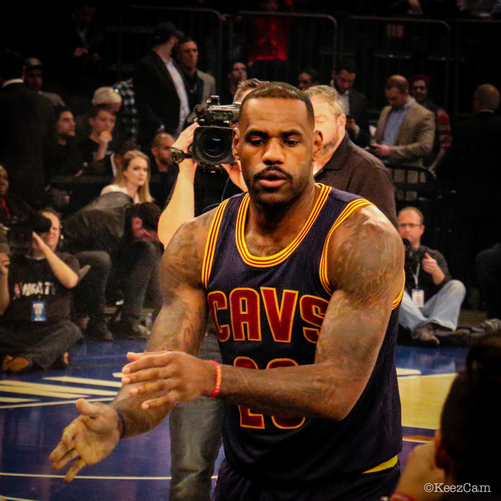 LeBron James ready for tip-off at Madison Square Garden