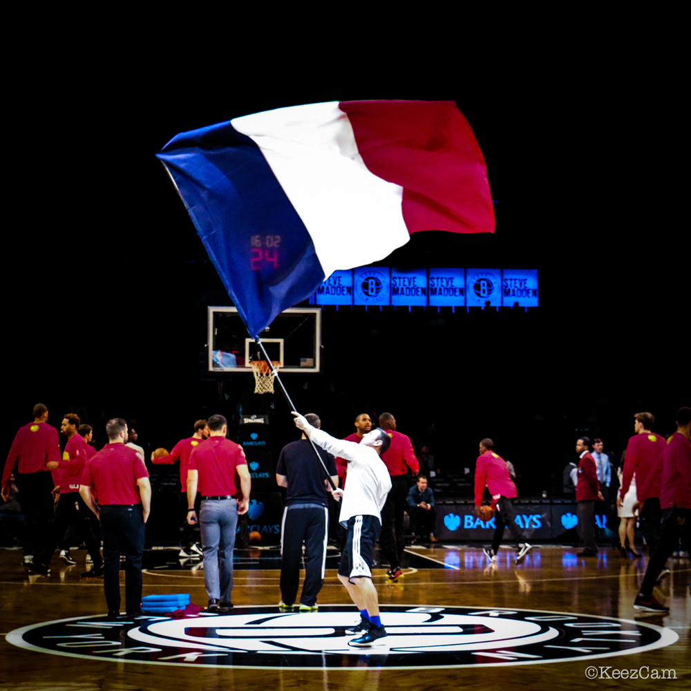 Supporting France at Barclays Center