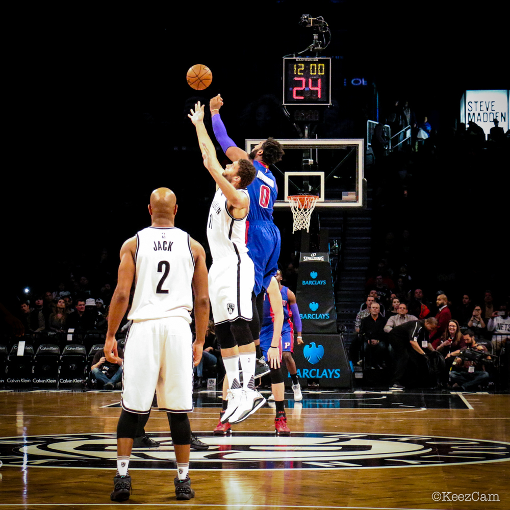 Detroit Pistons vs. Brooklyn Nets Tipoff