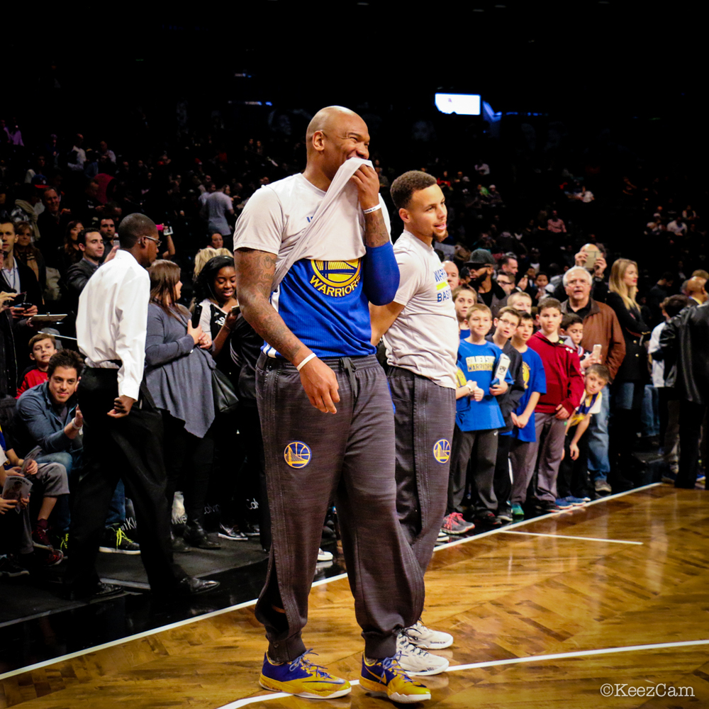 Marreese Speights & Stephen Curry