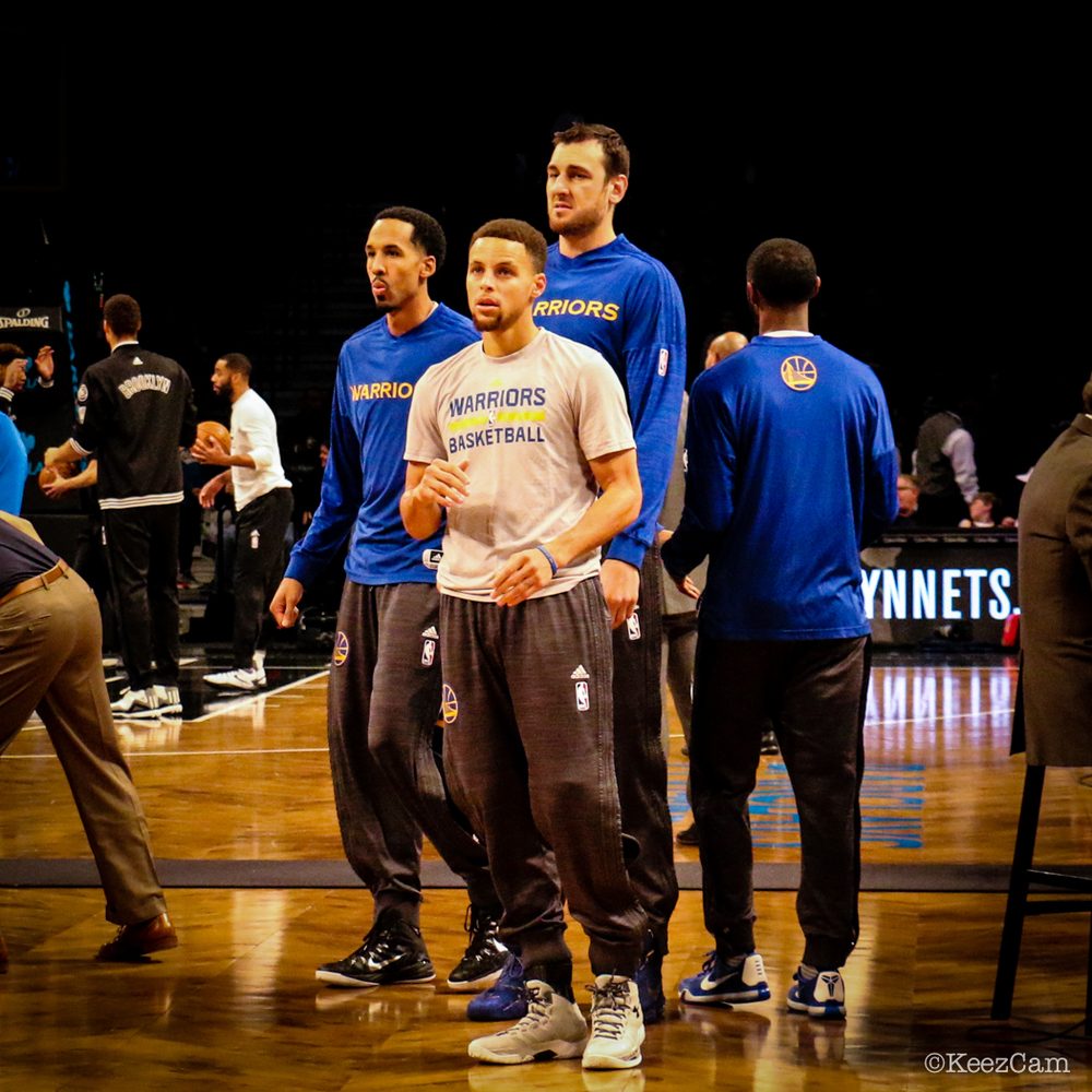 Shaun Livingston, Stephen Curry & Andrew Bogut