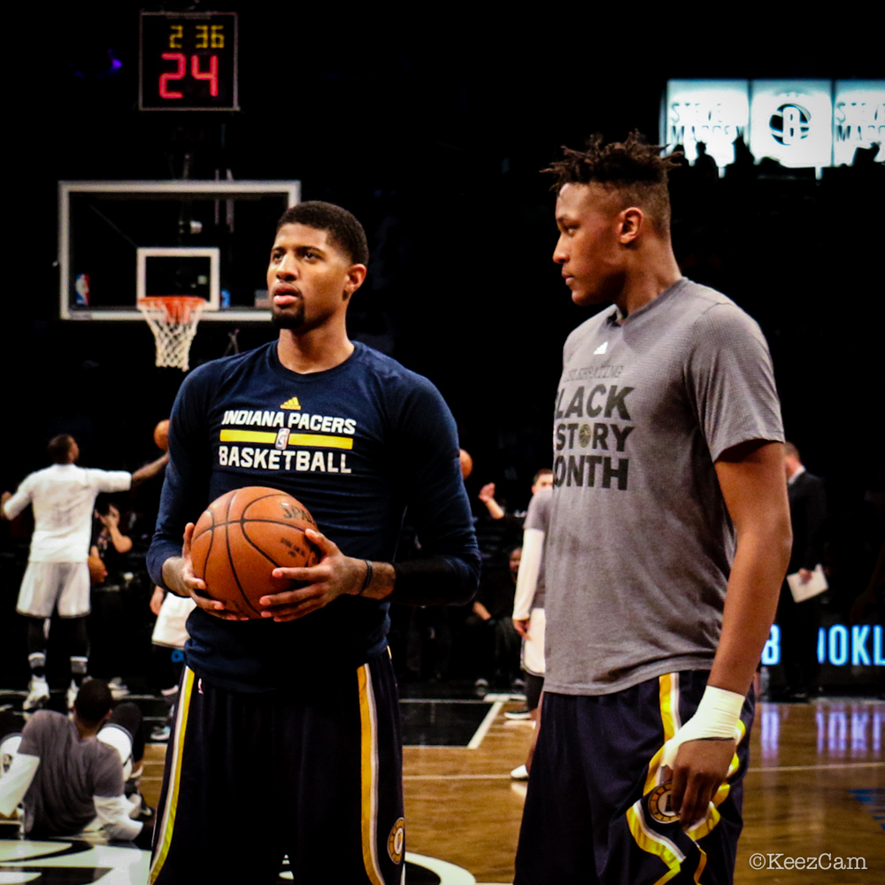 Paul George & Myles Turner