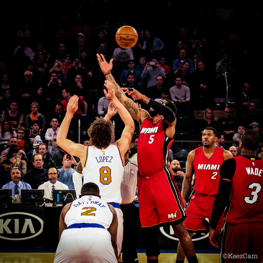Miami Heat vs. New York Knicks tipoff