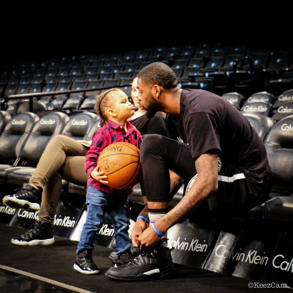 Father & Son love at Barclays Center