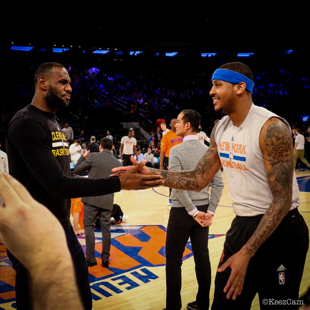 LeBron James & Carmelo Anthony